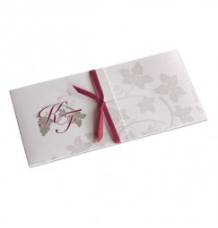 Wedding invitation red wine