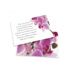Carton d'invitation orchidée rose wrap