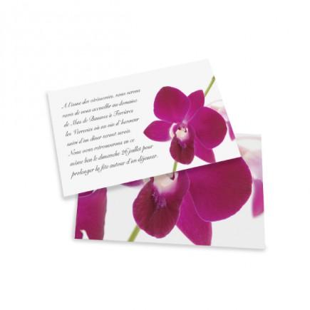 Carton d'invitation orchidée wrap