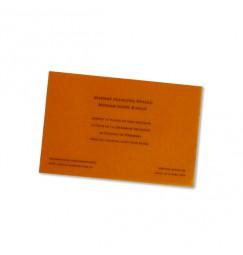 Carton d'invitation classique Italien