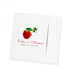 Wedding invitation rose rayon