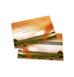 Carton d'invitation vin wrap