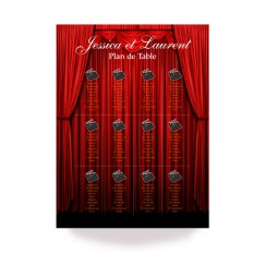 Table plan opening curtain