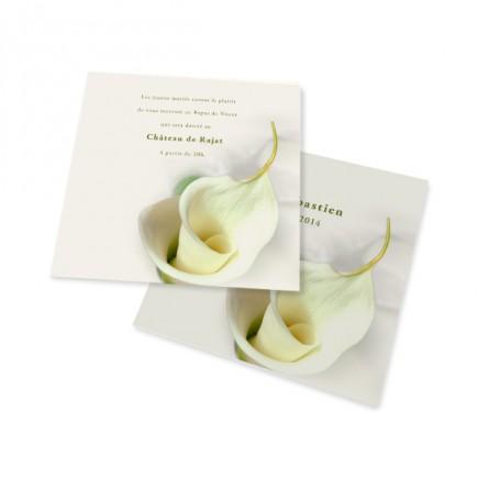Dinner card calla lily