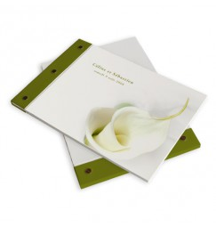 Wedding book calla lily