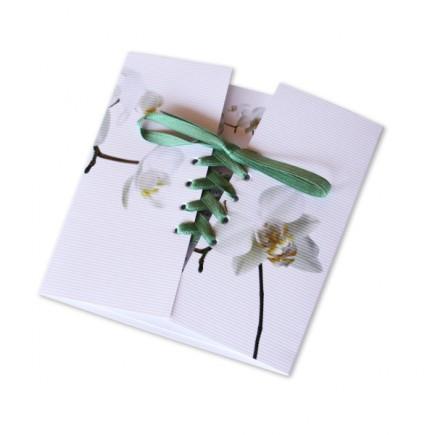 Faire part mariage corset orchidée