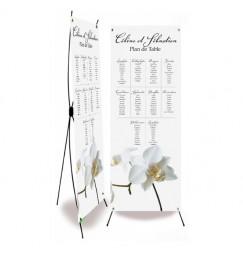 Plan de table mariage corset orchidée