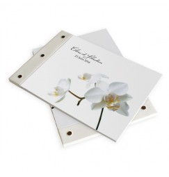 Wedding book corset orchid