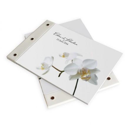 Livre d'or mariage corset orchidée