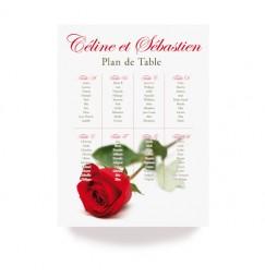 Table plan rose rayon