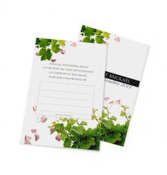 Carton réponse pétales et vignes wrap