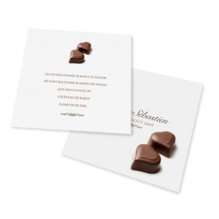 Carton d'invitation chocolat BF