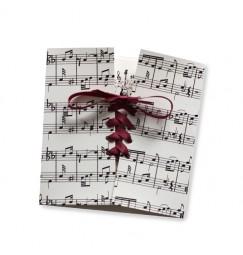 Faire part mariage corset musique
