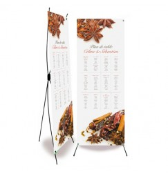 Table plan banner spice wrap