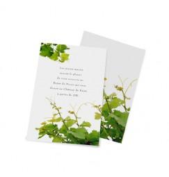 Carton d'invitation la vigne