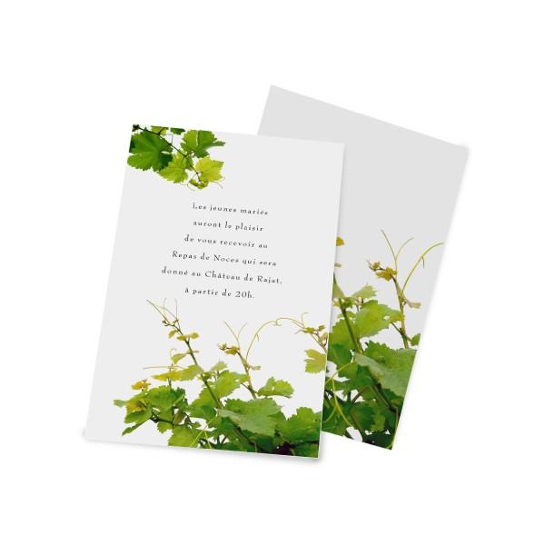 carton d u0026 39 invitation la vigne