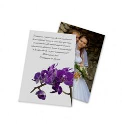 Remerciement classique orchidée violette wrap