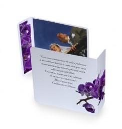 Remerciement original orchidée violette wrap
