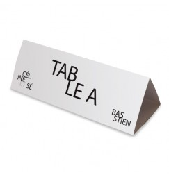 Table name text platine