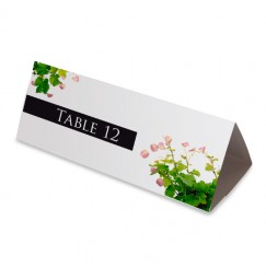 Nom table pétales et vignes wrap