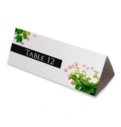 Nom table pétales et vignes wrap