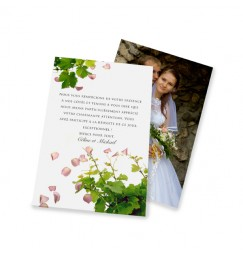 Classic thank you card petals and vines