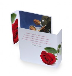 Original thank you card rose rayon