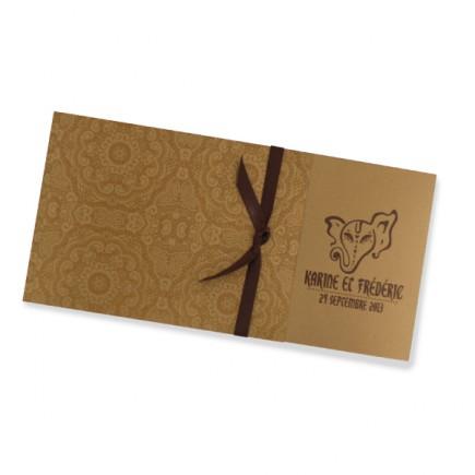 Wedding invitation indian gold