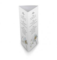 Table menu corset orchid