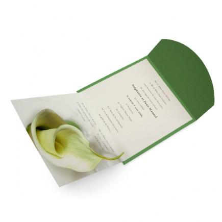 Faire part mariage calla lily