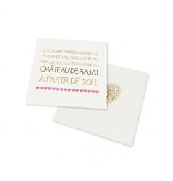 Carton d'invitation vintage coeur