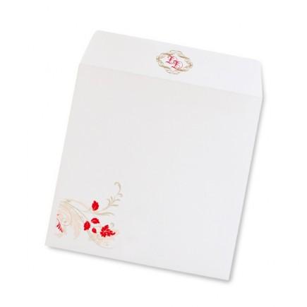 Enveloppe mariage corset diecut
