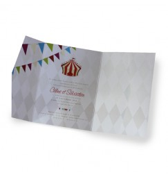 Wedding invitation circus