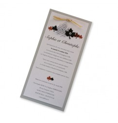 Wedding invitation autumn leaf
