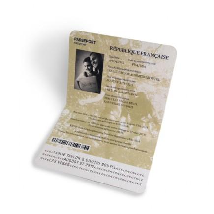 Faire part mariage passeport