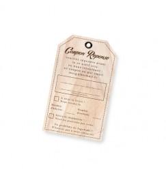 RSVP card vintage wood