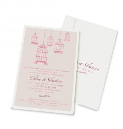Wedding invitation bird cage