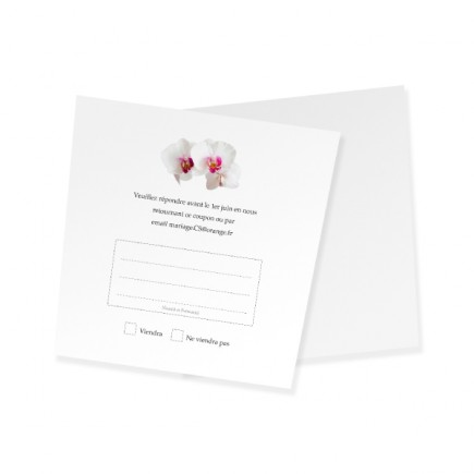 RSVP card pink orchid corset