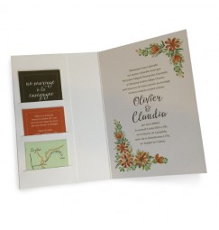 Wedding invitation country clover