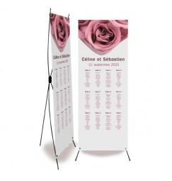 Plan de table mariage rose wrap