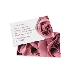 Dinner card rose wrap
