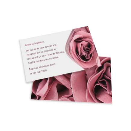 Dinner card rose wrap
