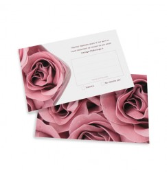 RSVP card rose wrap