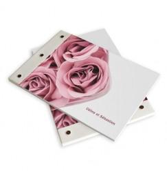 Livre d'or mariage rose wrap
