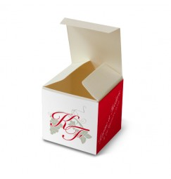 Wedding favor box vigne avorio