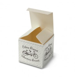 Wedding favour box vintage bicycle