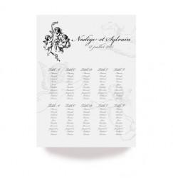 Plan de table corset ange