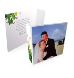 Original thank you card petals and vines