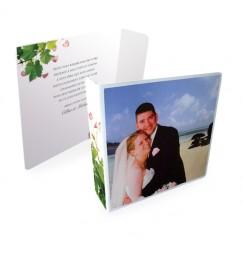 Original thank you card petals and vines