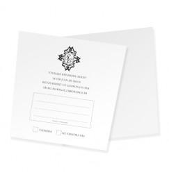 Carton réponse corset baroque
